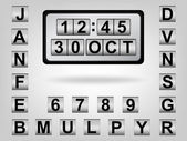 Clock & calendar — Stock Vector