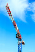 Tower crane with blue sky — Stock Photo