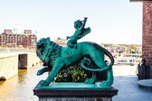 Metal figure of a lion — Stock Photo