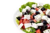 Parte do prato com salada grega — Foto Stock