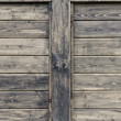 Stock Photo: Wood wall with two copy spaces