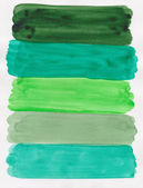 Handpainted green watercolor — Stock Photo