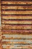 Texture en métal rouillé avec rayures — Photo