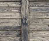 Wood wall with two copy spaces — Stock Photo