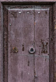 Part of old flaky door — 图库照片