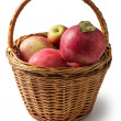 Stock Photo: Wicker of apples