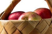 Basket of apples close up — Stock Photo