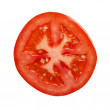 Tomato section photographed directly above — Stock Photo