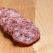 Sliced salami — Stock Photo