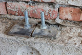 Bolts holding floor — Stock Photo