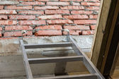 Stepladder to the second floor — Stock Photo