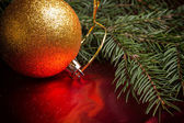 Christmas background with copyspace — Stock Photo