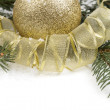 Christmas ornament with ball — Stock Photo