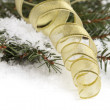 Christmas ornament with ribbon — Stock Photo