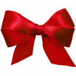 Red bow with tails from ribbon — Stock Photo #15626521