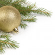 Christmas ornament with ball — Stock Photo #16163879