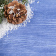 Christmas background with cone — Stock Photo