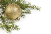 Jul prydnad med boll — Stockfoto
