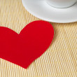 Paper heart and cup — Stock Photo