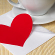Stock Photo: Paper heart and cup