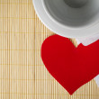Paper heart and cup - Photo