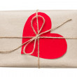 Valentines day parcel — Stock Photo