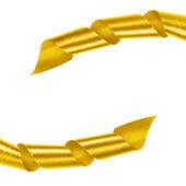 Marco de cinta de oro rizado — Foto de Stock