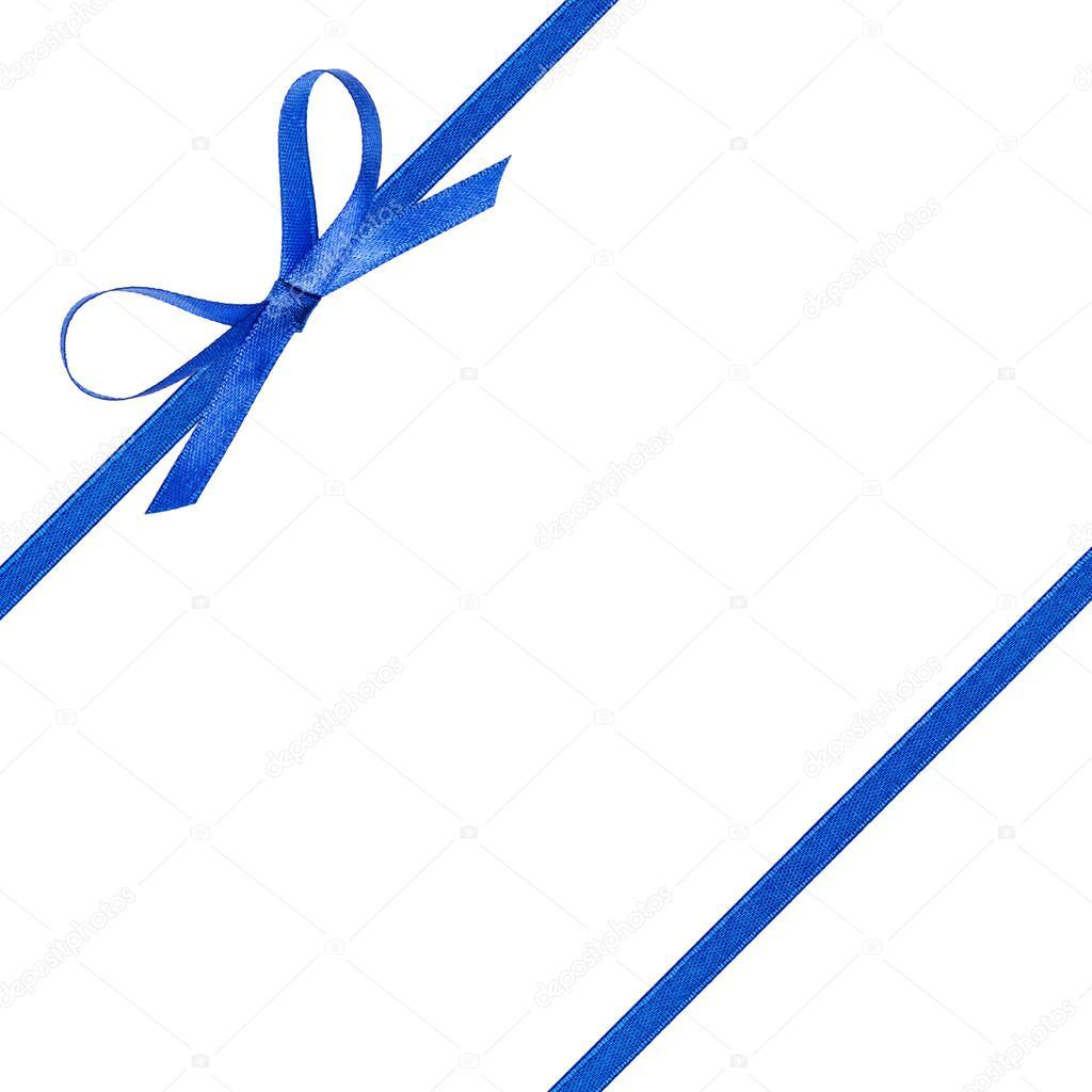 Nastro Blu Sottile Fiocco Blu Con Nastro