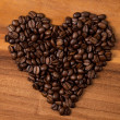 Heart fron coffee beans - Foto de Stock