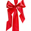 Red tied bow from ribbon — Stock Photo #19228823