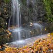 Small waterfall in autumn park — Foto de Stock