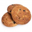 Royalty-Free Stock Photo: Heap of oat cookies with raisins