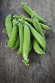 Heap of fresh pea pods — Stock Photo