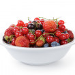 Freash garden berries in bowl — Stock Photo