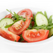 Served plate with mix salad — Stock Photo