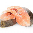 Fresh trout steaks — Stock Photo
