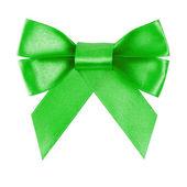 Grüne festlich bogen gemacht von ribbon — Stockfoto