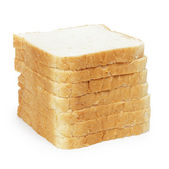 Seven slices of toast bread in stack — Stock Photo