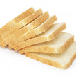 Seven slices  of toast bread — Stock Photo