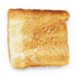 Toasted slice of white bread — Stock Photo