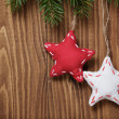 Vintage christmas decorative stars hanging — Stock Photo #33530481