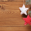 Vintage christmas decorative stars hanging — Stock Photo #33530545