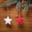 Vintage christmas decorative stars hanging — Стоковое фото #33530573