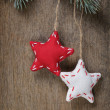 Vintage christmas decorative stars hanging — Stock Photo #33530623
