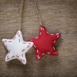 Vintage stars hanging on rope — Stock fotografie