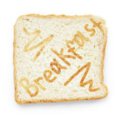 Slice of bread for breakfast — Stock Photo