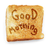 Chleb tostowy życzenia dzień dobry — Zdjęcie stockowe