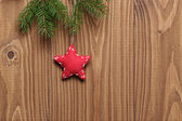 Vintage christmas decorative star hanging — Stock Photo
