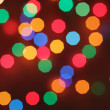 Blurry christmas lights — Stock Photo