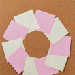 Circle from sticky notes — Stock Photo